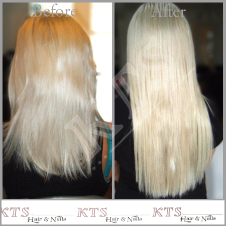 Light blonde extensions