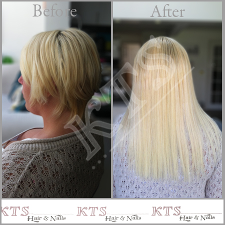 Extensions on very short hair